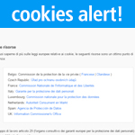 cookies policy barra delle notifiche preview